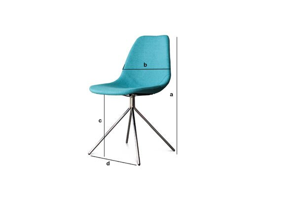 Product Dimensions Blue Piramis Chair