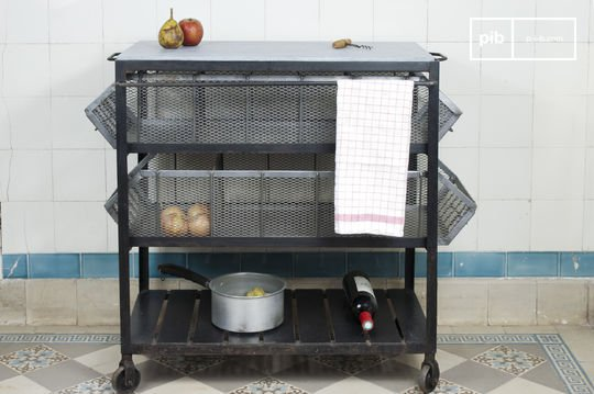Bluestone kitchen storage cart