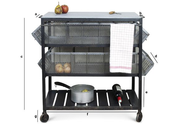 Product Dimensions Bluestone kitchen storage cart