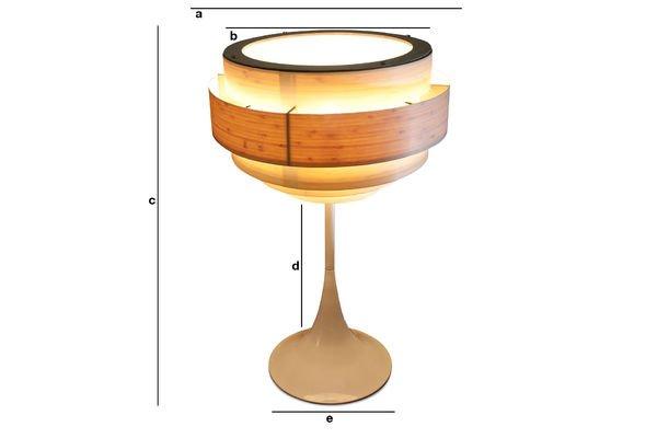 Product Dimensions Boréal lamp