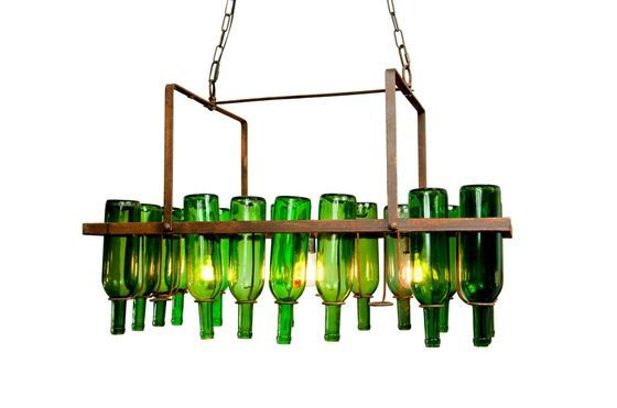 Bottle chandelier Clipped
