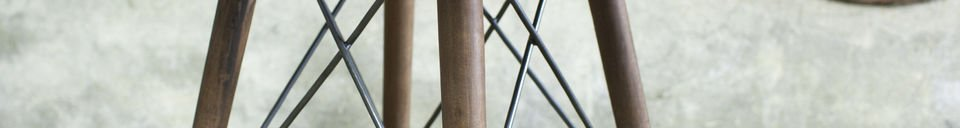 Material Details Bow bistro table