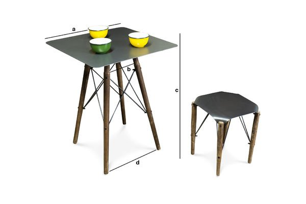 Product Dimensions Bow bistro table