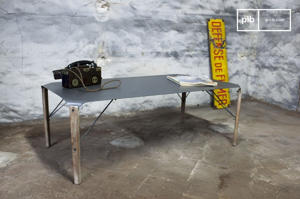 A table with both finesse and industrial style