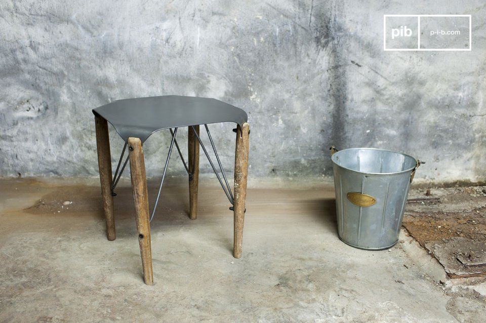 The stool Bow is a great example of a seating furniture piece with industrial retro style