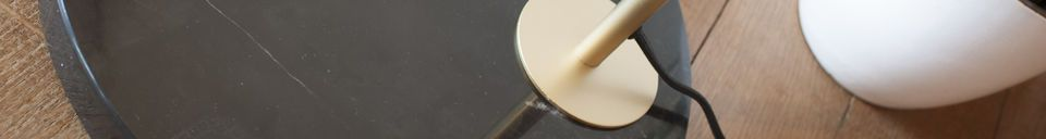 Material Details Brass and marble Floor lamp Mogens