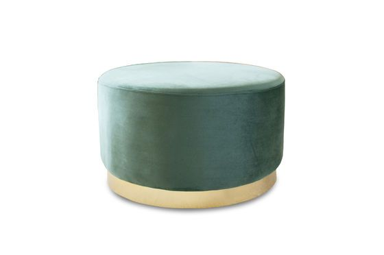 Brass and velvet pouf Dallas Clipped