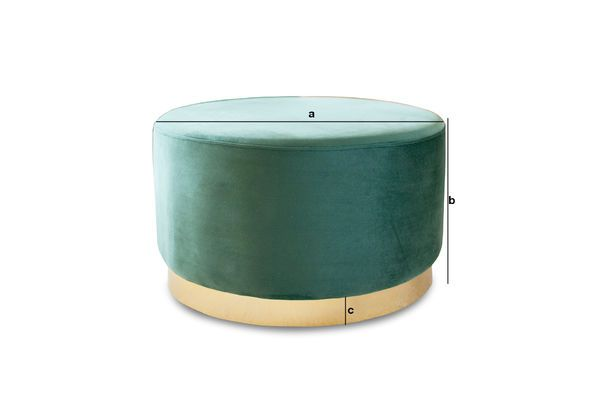 Product Dimensions Brass and velvet pouf Dallas