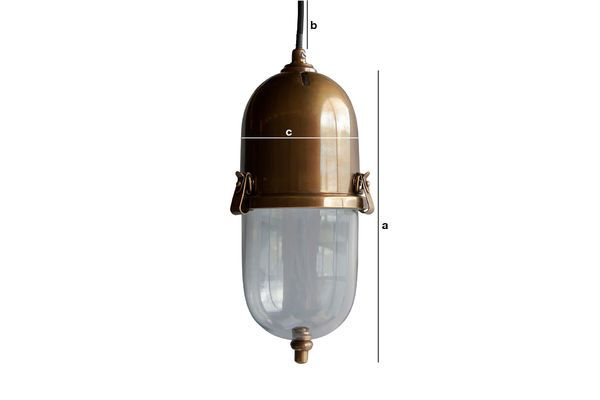 Product Dimensions Brass pendant lamp Kapsula