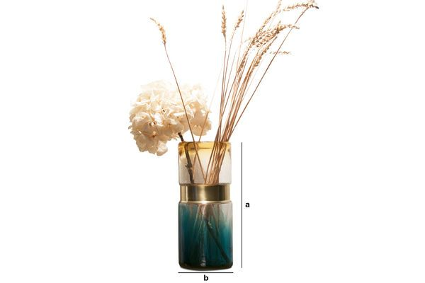 Product Dimensions Brassbelt Glass Vase