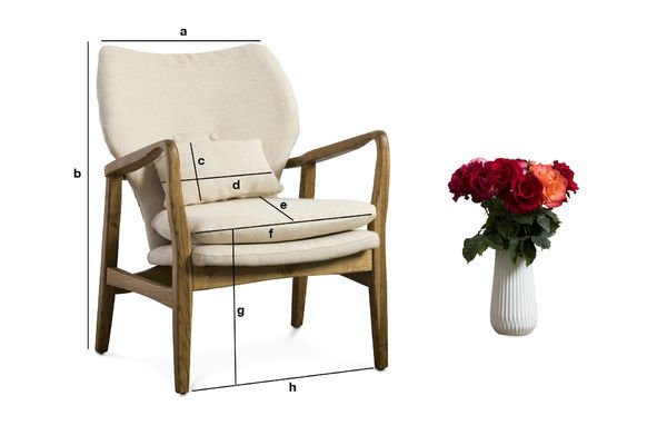 Product Dimensions Breda Armchair
