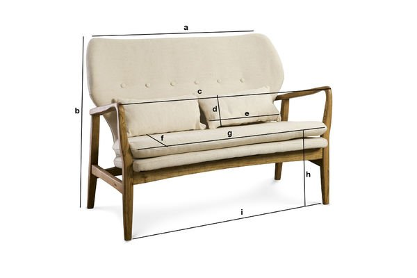 Product Dimensions Breda Bench