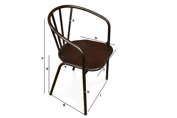 Product Dimensions Brienon metal chairs