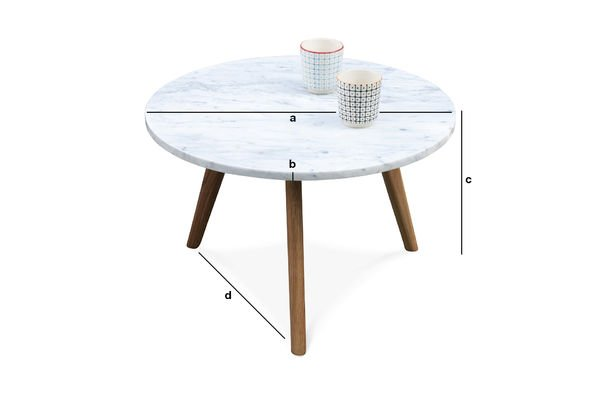 Product Dimensions Briët coffee table