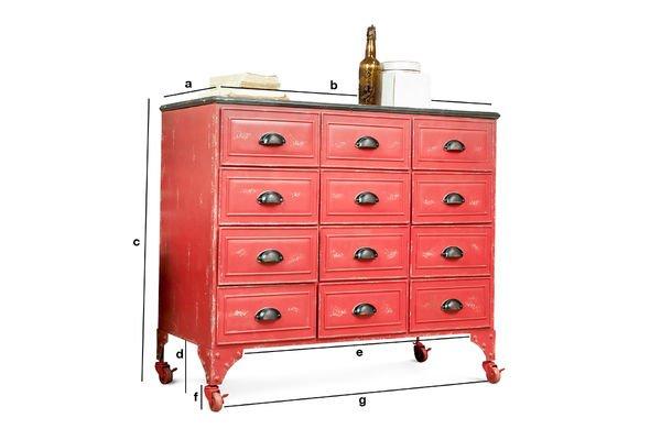 Product Dimensions Brighton metallic chest