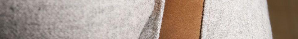 Material Details Britta wool armchair