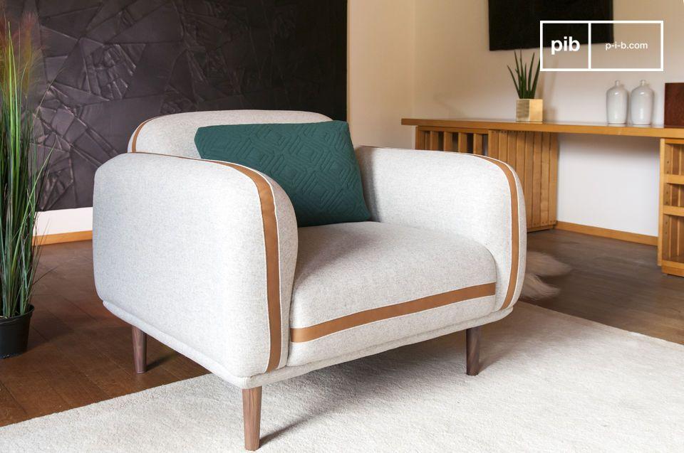Britta wool armchair