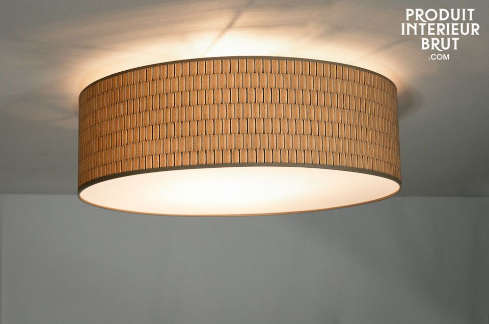 A large ceiling light that is ideal for a low room