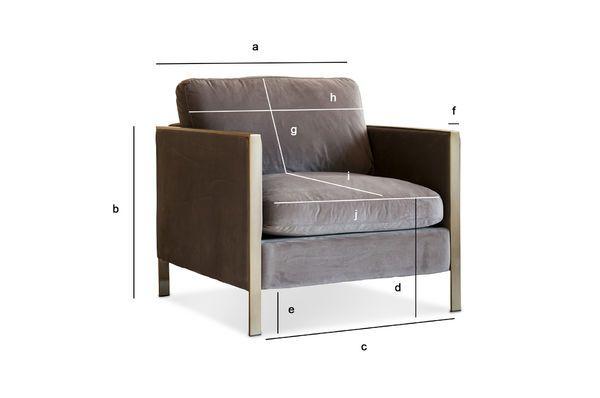 Product Dimensions Brompton Velvet Armchair
