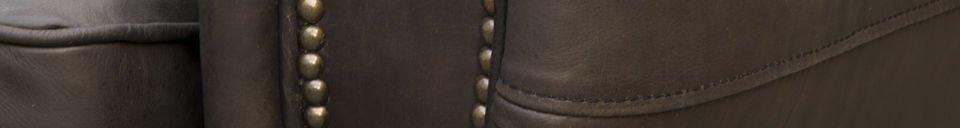 Material Details Brown Cigar club sofa