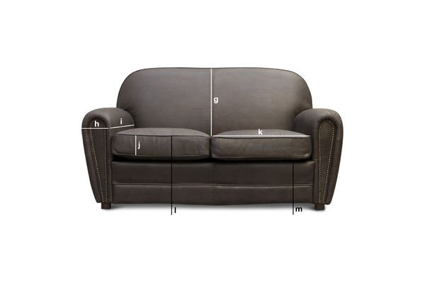 Product Dimensions Brown Cigar club sofa