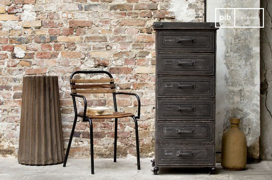 Brown factory cabinet