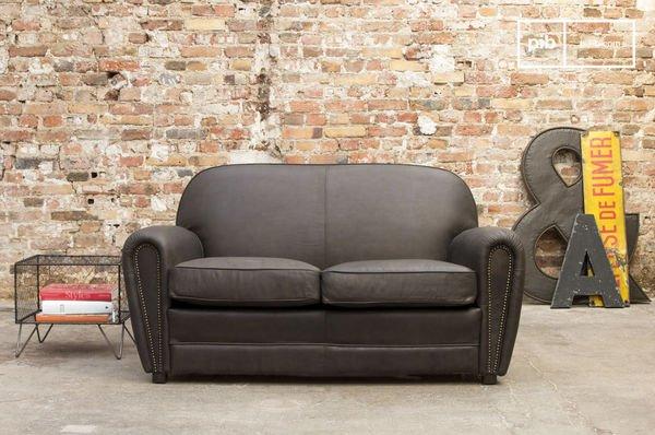 Brown sofa cigar club
