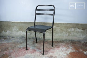 Brown stackable metal chair