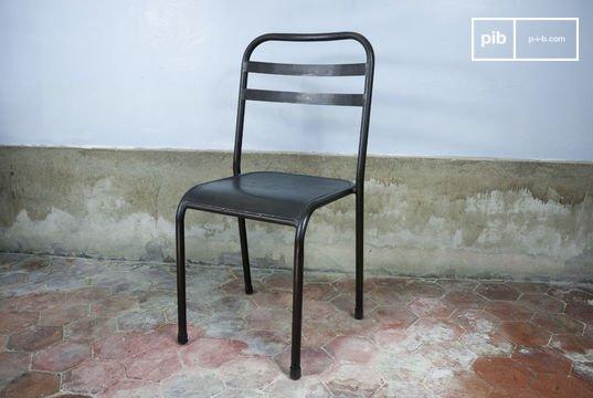Brown stackable metal chair