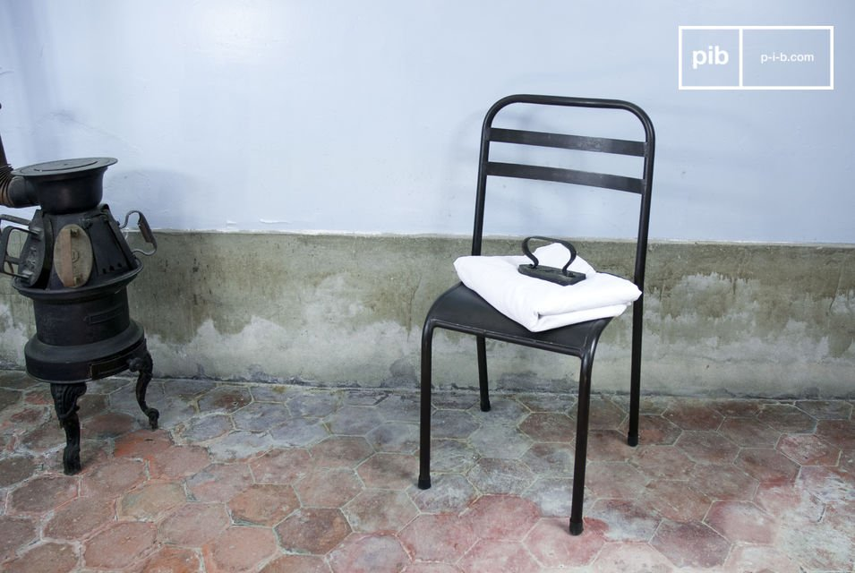 This rock-solid chair will add an industrial touch to your table