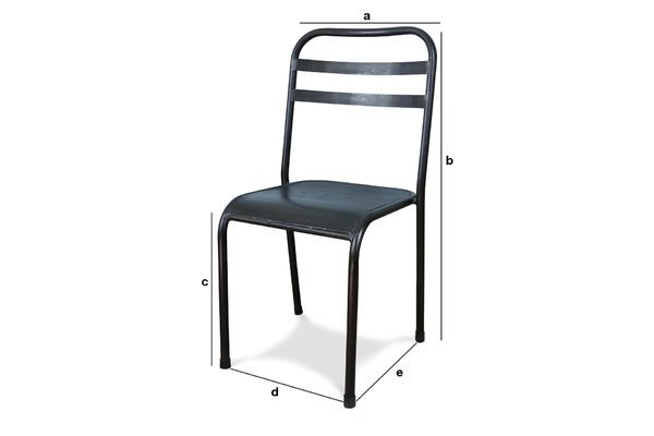Product Dimensions Brown stackable metal chair