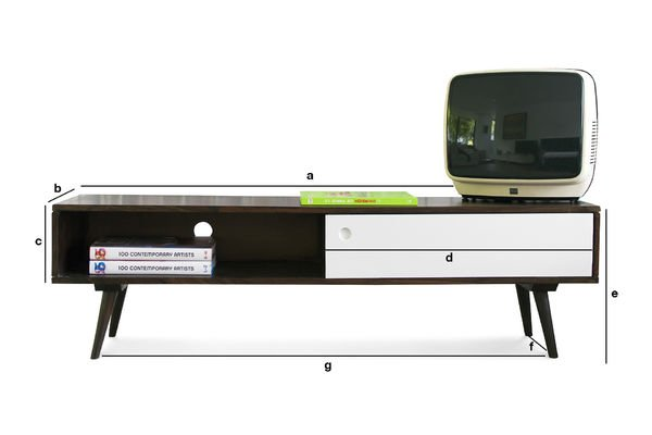 Product Dimensions Brown'n White Tv console