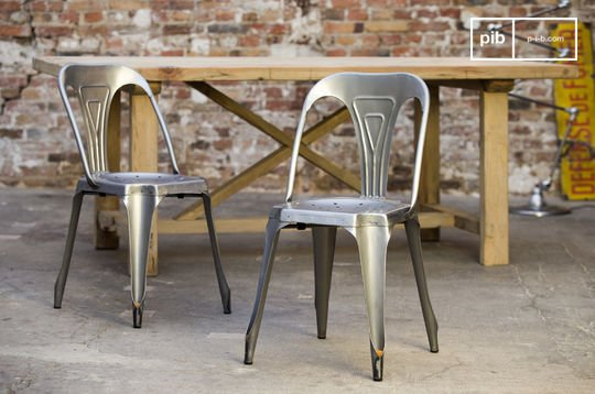 Brushed steel  Multipl's chair
