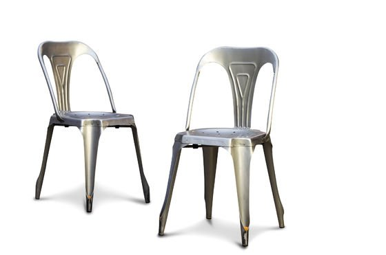 Brushed steel  Multipl's chair Clipped