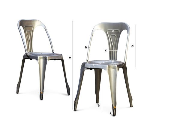 Product Dimensions Brushed steel  Multipl's chair