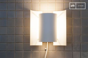 Butterfly white finish wall lamp