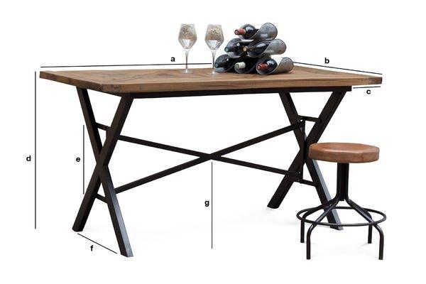 Product Dimensions Cadé Table