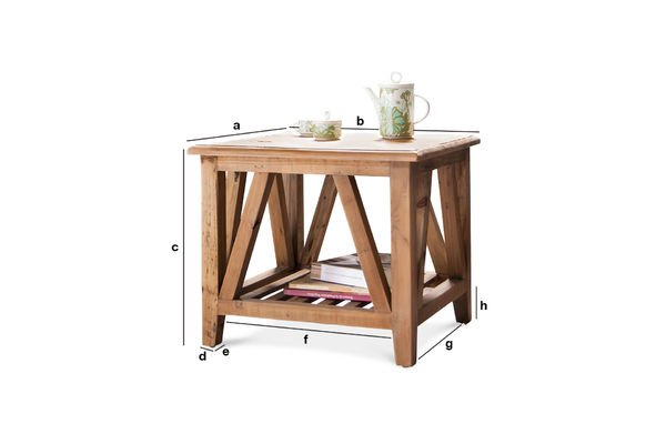 Product Dimensions Cadynam square coffee table