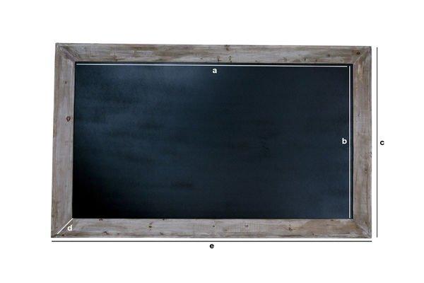 Product Dimensions Cafe blackboard 115x190cm