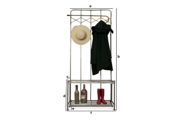 Product Dimensions Café de Paris coat rack