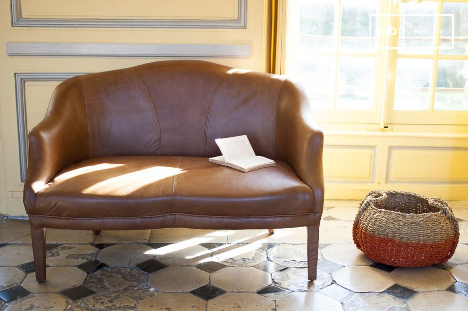A leather sofa - sleek and beautifully finished