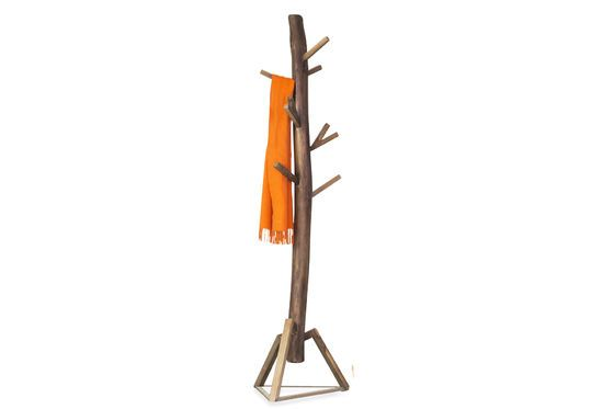 Camille wooden coat rack Clipped