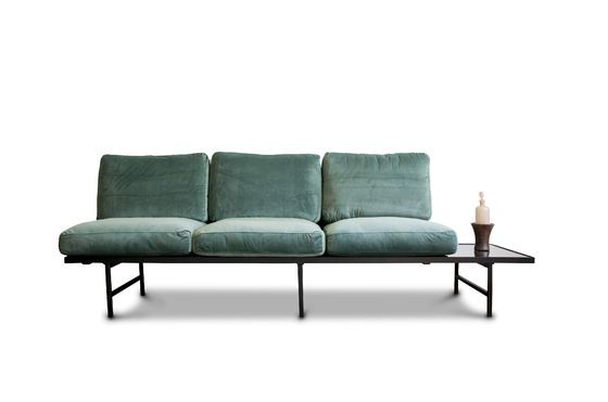 Carthy velvet sofa with siderest Clipped