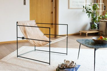 Casperünd hanging leather armchair