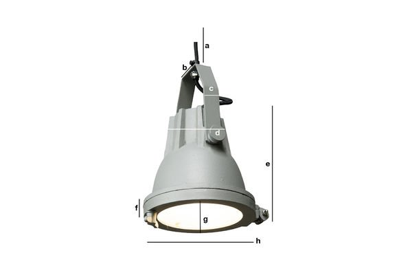 Product Dimensions Cast hanging light