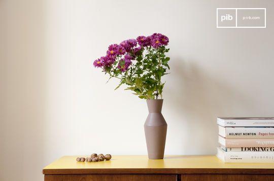 Ceramic Corset Vase Matte Mocha