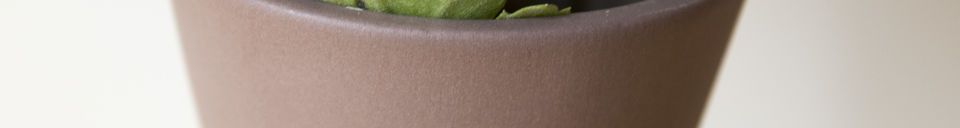 Material Details Ceramic Corset Vase Matte Mocha