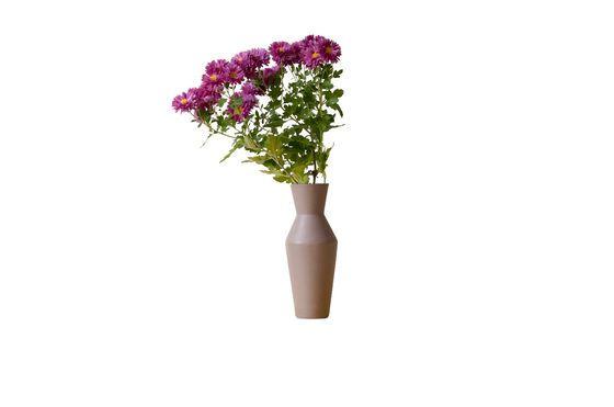Ceramic Corset Vase Matte Mocha Clipped