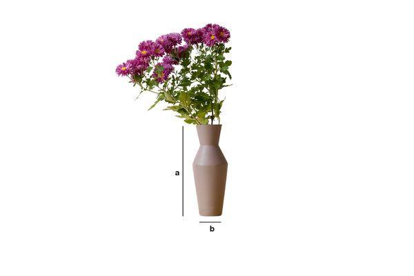 Product Dimensions Ceramic Corset Vase Matte Mocha