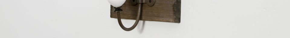 Material Details Ceramic double-hook coat rack